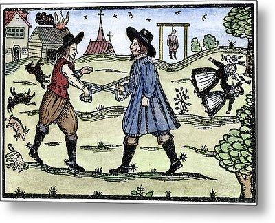 Dueling, 1595 Metal Print by Granger