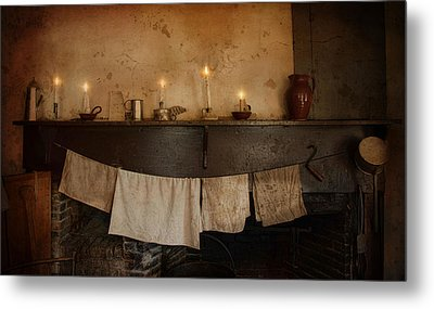 By Candle Light Metal Print by Robin-Lee Vieira