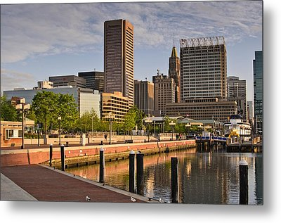 Early Morning Baltimore Inner Harbor Metal Print by Marianne Campolongo