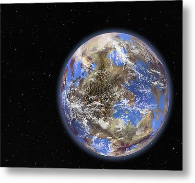 Earth-like Extrasolar Planet, Artwork Metal Print