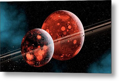 Earth-moon System Formation Metal Print