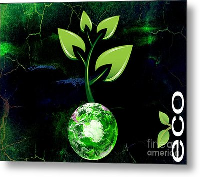 Eco Living Metal Print by Marvin Blaine
