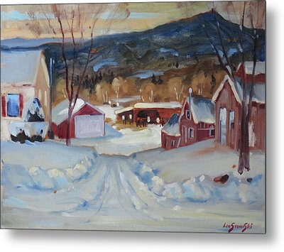Metal Print featuring the painting Eddie's by Len Stomski