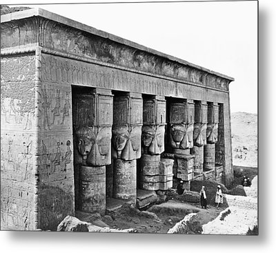 Egypt Temple Of Hathor Metal Print by Granger