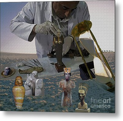 Metal Print featuring the digital art Egyptian Artifacts by Megan Dirsa-DuBois