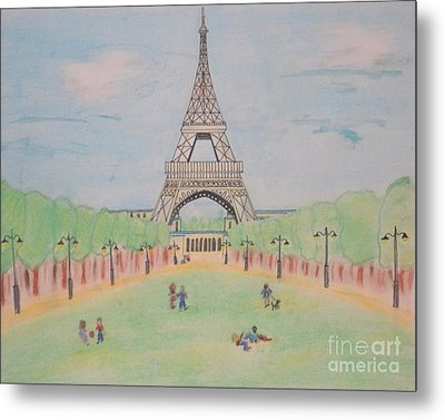 Eiffel Tower Metal Print by Denise Tomasura