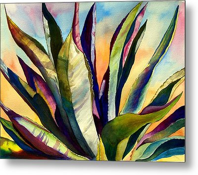 Electric Agave Metal Print