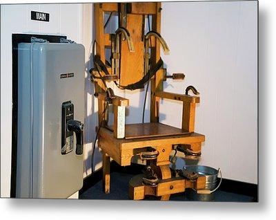 Electric Chair Metal Print by Jim West