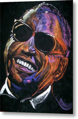 electric Ray Charles Metal Print