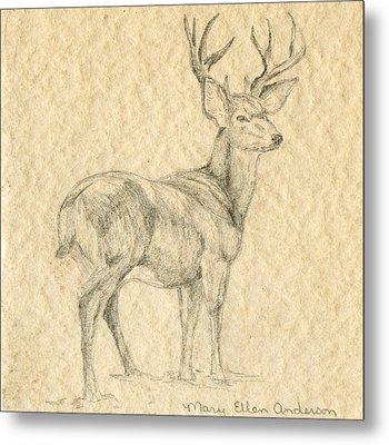 Elk Metal Print by Mary Ellen Anderson