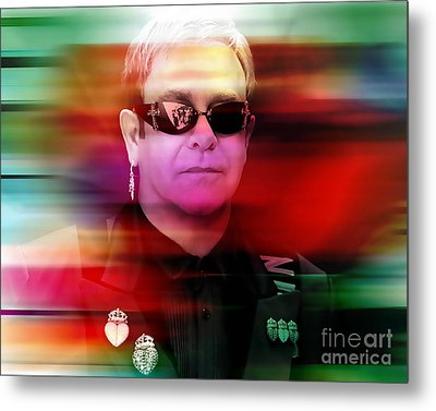 Elton John Metal Print by Marvin Blaine