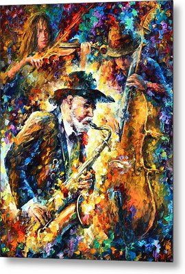 Endless Tune Metal Print by Leonid Afremov