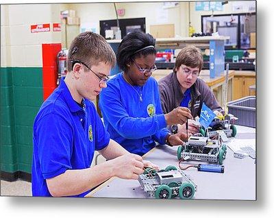 Engineering Academy Robotics Students Metal Print