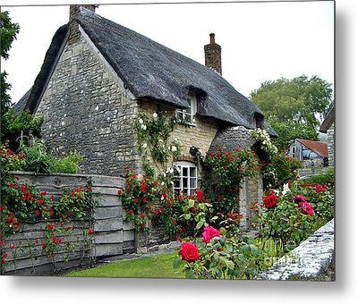 English Cottage  Metal Print by Katy Mei
