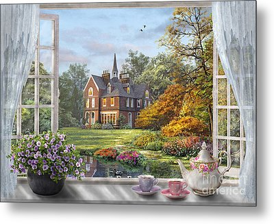 English Garden Metal Print by Dominic Davison