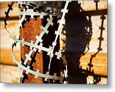 Enhanced Level Of Safety And Security 1 Metal Print by Mark Weaver