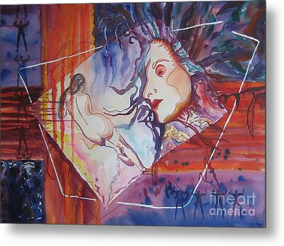 Metal Print featuring the painting Enlightenment by Diana Bursztein