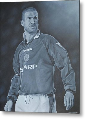 Metal Print featuring the painting Eric Cantona I by David Dunne