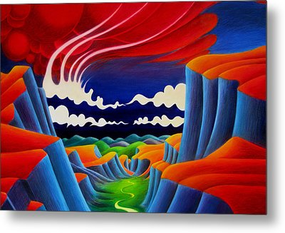 Metal Print featuring the painting Escalante by Richard Dennis