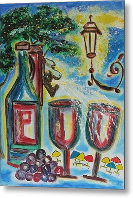 Metal Print featuring the painting European Wine by Diane Pape