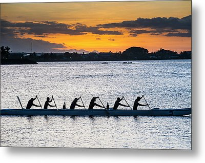 Evening Rowing In The Bay Of Apia Metal Print