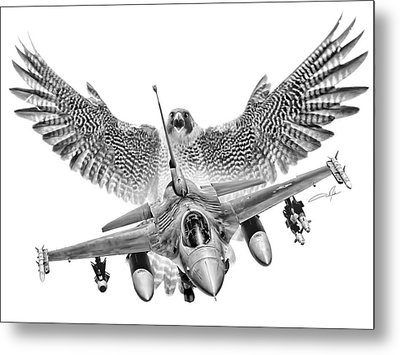 F-16 Fighting Falcon Metal Print by Dale Jackson
