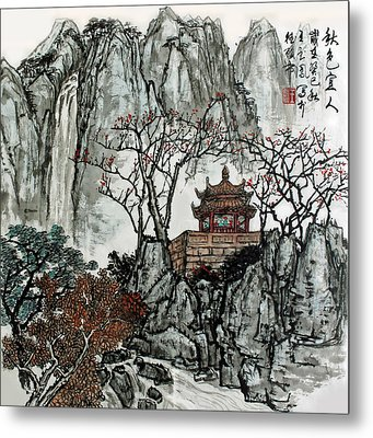 Metal Print featuring the photograph Fall Colors by Yufeng Wang