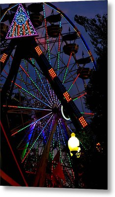 Fall Festival Ferris Wheel Metal Print by Deena Stoddard