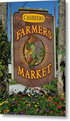 Farmers Market Metal Print by Frozen in Time Fine Art Photography