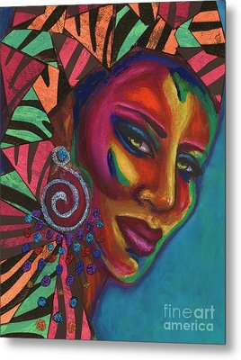 Feminine Mystique Metal Print by Alga Washington