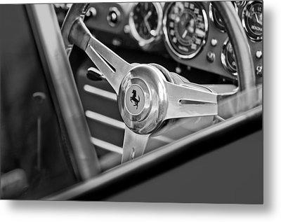 Ferrari Steering Wheel Metal Print by Jill Reger