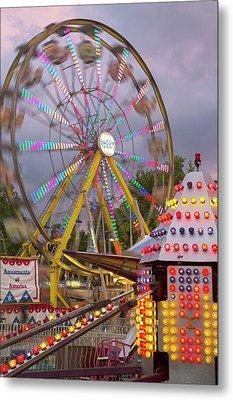 Ferris Wheel Fairground Ride Metal Print by Jim West