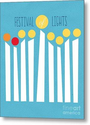 Festival Of Lights Metal Print by Linda Woods