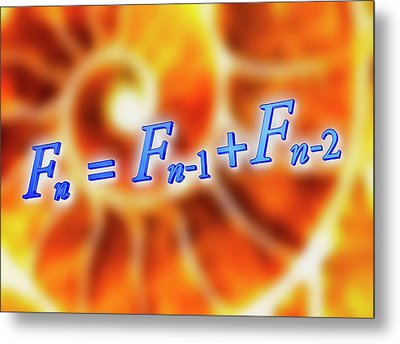 Fibonacci Sequence Equation Metal Print by Alfred Pasieka