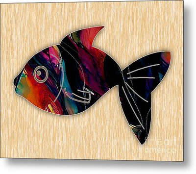 Fish Painting Metal Print by Marvin Blaine
