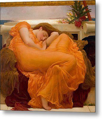 Flaming June Metal Print by Frederick Leighton