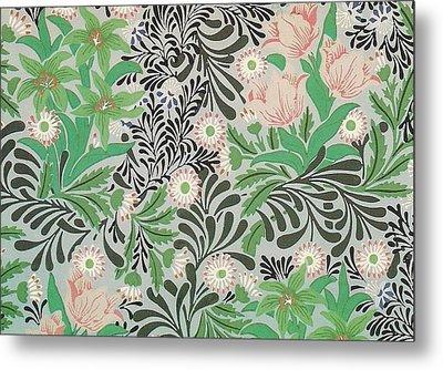 Floral Design Metal Print by William Morris