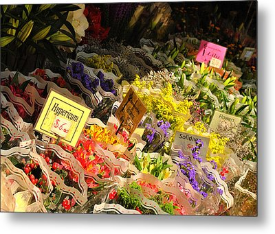 Flowers For Sale Metal Print