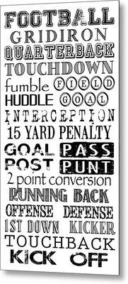 Football Subway Art Metal Print