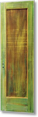Forest Painted Door Metal Print by Asha Carolyn Young