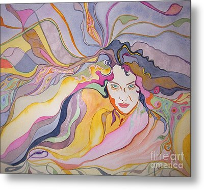 Metal Print featuring the painting Forever by Diana Bursztein