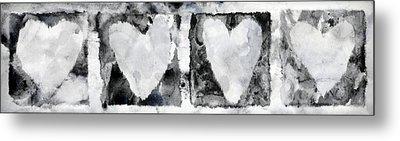 Four Hearts Metal Print by Carol Leigh