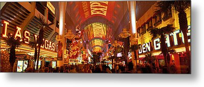 Fremont Street Experience Las Vegas Nv Metal Print by Panoramic Images