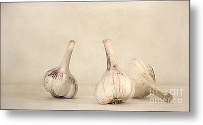 Fresh Garlic Metal Print by Priska Wettstein