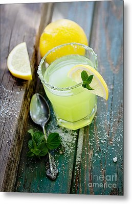 Fresh Lemonade Metal Print by Mythja  Photography