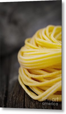 Fresh Pasta Metal Print by Mythja  Photography