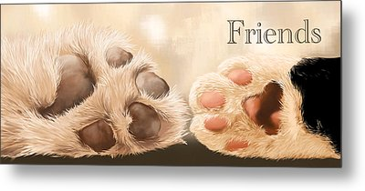 Friends Metal Print by Veronica Minozzi