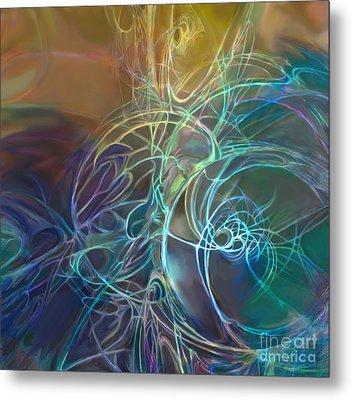 Galactic Textures Metal Print by Ursula Freer