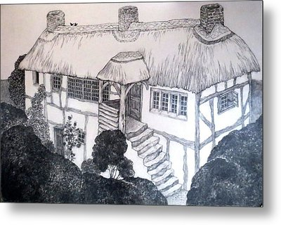 Garden Cottage Metal Print by Diane Fine