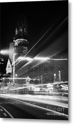 Gedachtniskirche Christmas Market On Kudamm Berlin Germany Metal Print